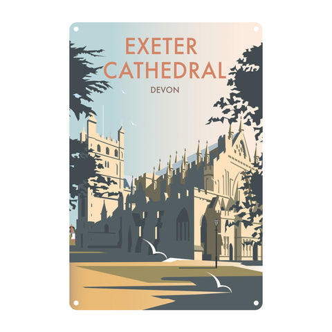 Exeter Cathedral, Devon Metal Sign