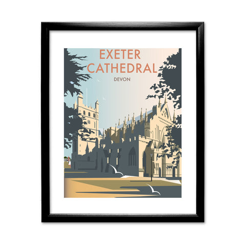 Exeter Cathedral, Devon 11x14 Framed Print (Black)