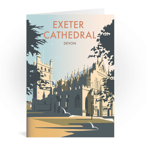 Exeter Cathedral, Devon Greeting Card 7x5