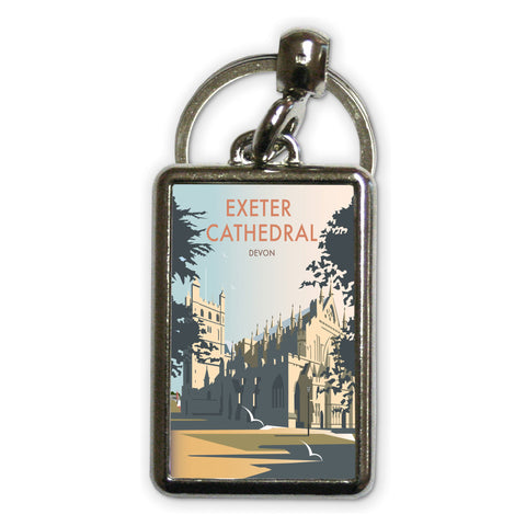 Exeter Cathedral, Devon Metal Keyring