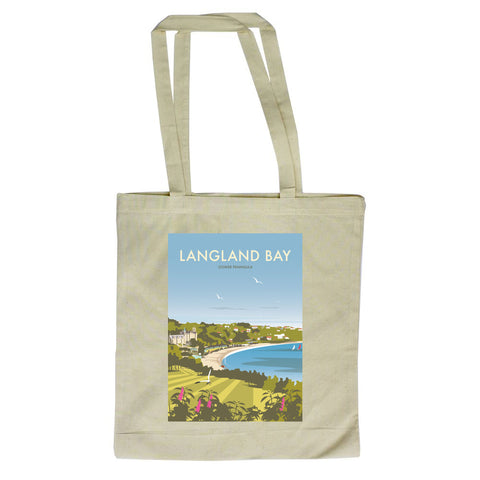Langland Bay, Gower Peninsula Canvas Tote Bag