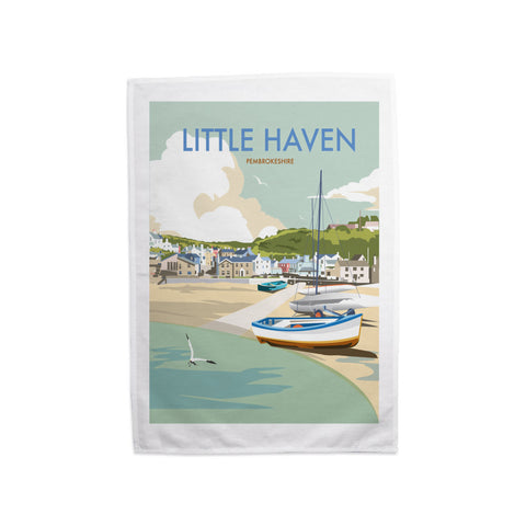 Little Haven, Pembrokeshire Tea Towel