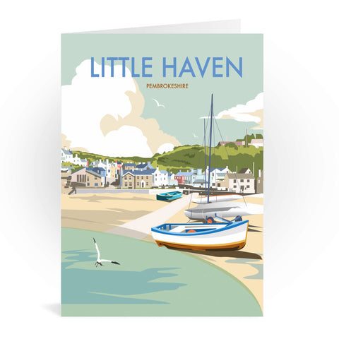 Little Haven, Pembrokeshire Greeting Card 7x5