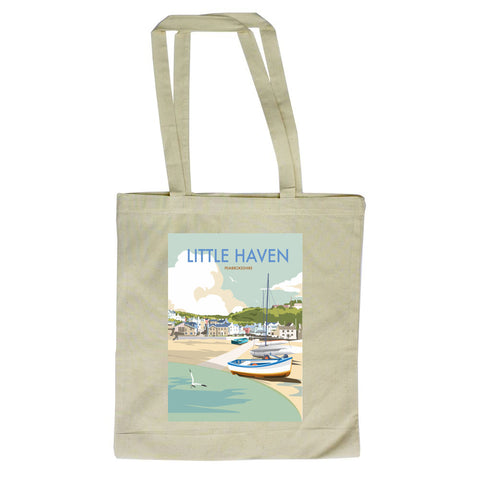 Little Haven, Pembrokeshire Canvas Tote Bag