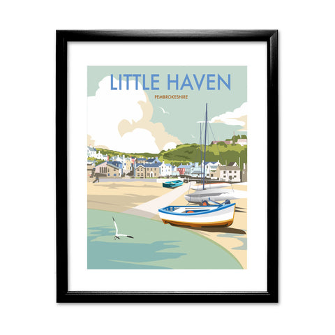 Little Haven, Pembrokeshire 11x14 Framed Print (Black)