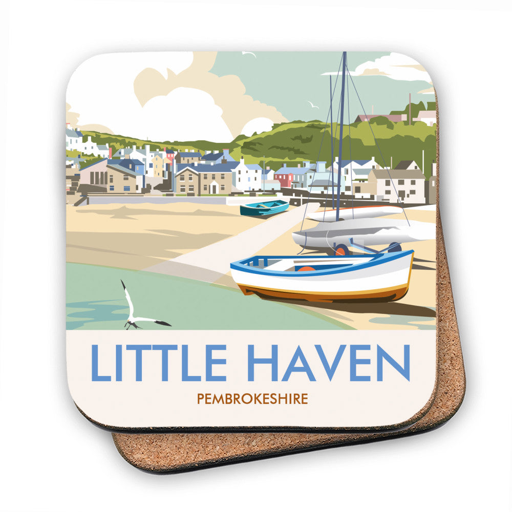 Little Haven, Pembrokeshire MDF Coaster