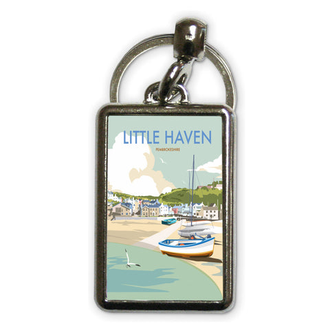 Little Haven, Pembrokeshire Metal Keyring