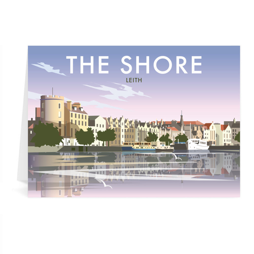 The Shore, Leith Greeting Card 7x5