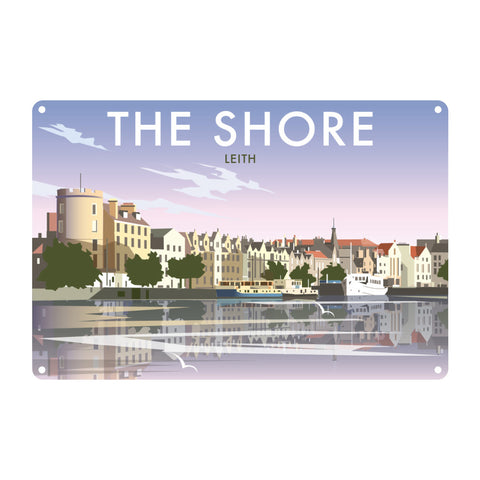 The Shore, Leith Metal Sign