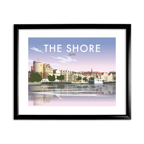 The Shore, Leith 11x14 Framed Print (Black)
