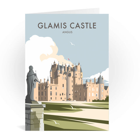 Glamis Castle, Angus Greeting Card 7x5