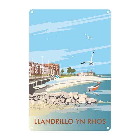 Llandrillo Yn Rhos Metal Sign