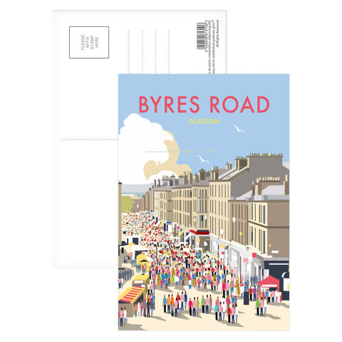 Byres Road, Glasgow Postcard Pack