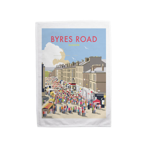 Byres Road, Glasgow Tea Towel
