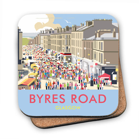 Byres Road, Glasgow MDF Coaster
