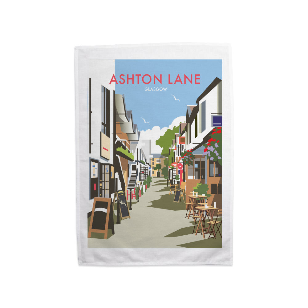 Ashton Lane, Glasgow Tea Towel
