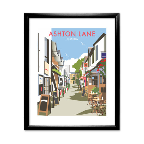 Ashton Lane, Glasgow 11x14 Framed Print (Black)