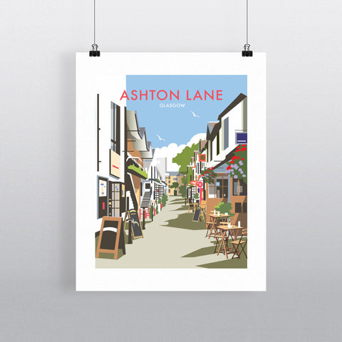 Ashton Lane, Glasgow 90x120cm Fine Art Print