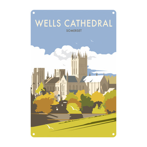 Wells Catherdral, Somerset Metal Sign