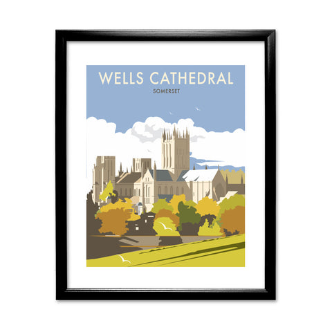 Wells Catherdral, Somerset 11x14 Framed Print (Black)