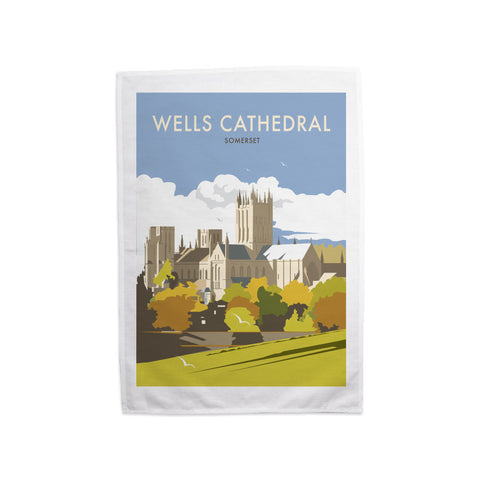 Wells Catherdral, Somerset Tea Towel