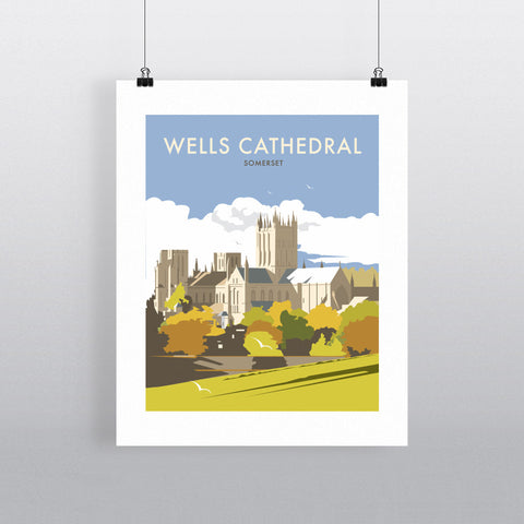 Wells Catherdral, Somerset 90x120cm Fine Art Print