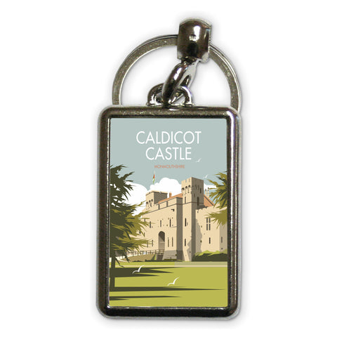 Caldicot Castle, Monmouthshire Metal Keyring