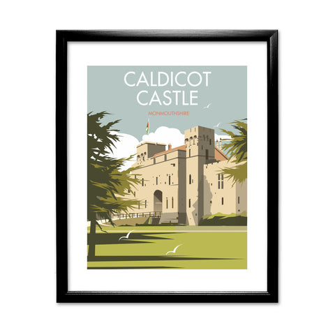 Caldicot Castle, Monmouthshire 11x14 Framed Print (Black)