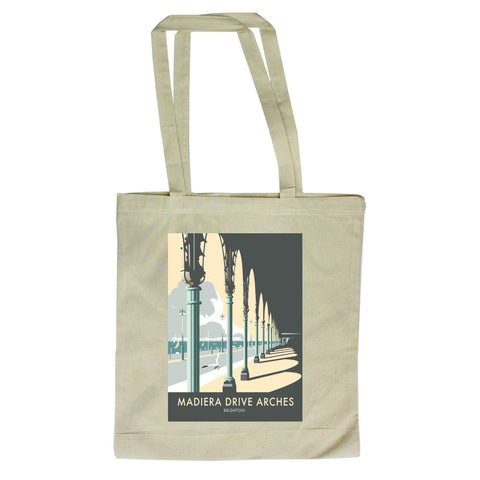 Madiera Drive Arches, Brighton Canvas Tote Bag