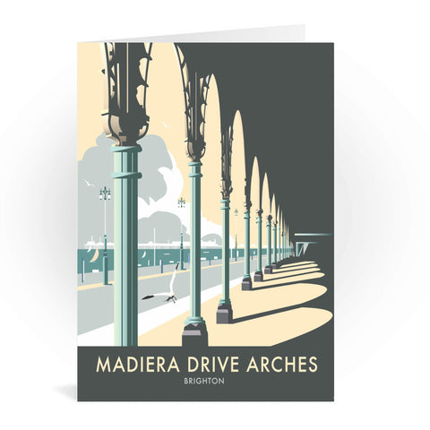 Madiera Drive Arches, Brighton Greeting Card 7x5