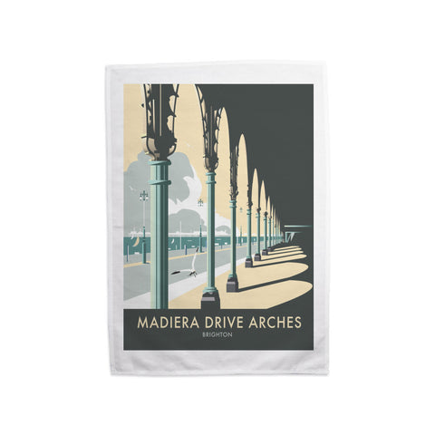 Madiera Drive Arches, Brighton Tea Towel