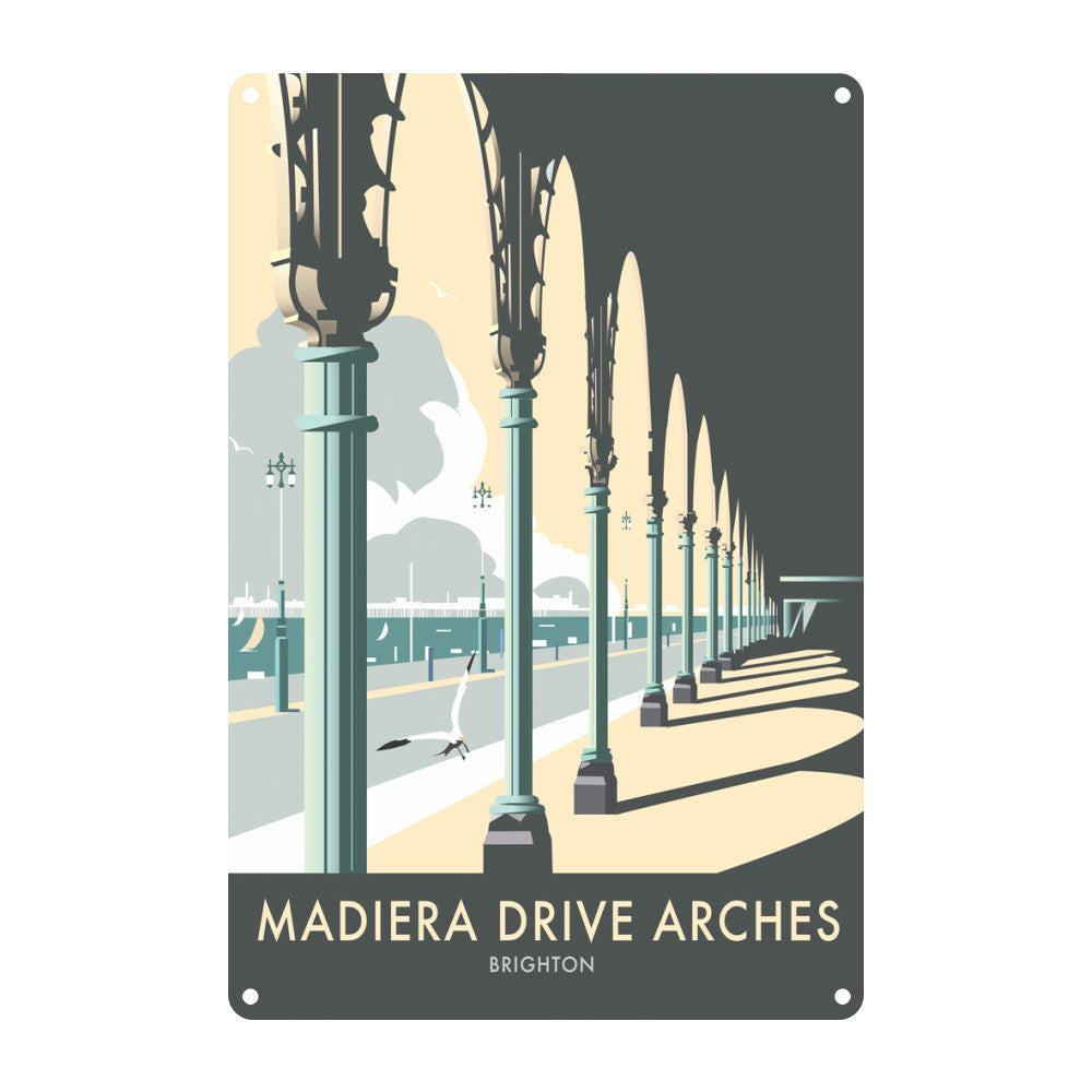 Madiera Drive Arches, Brighton Metal Sign