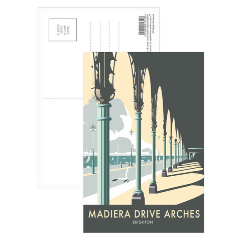 Madiera Drive Arches, Brighton Postcard Pack
