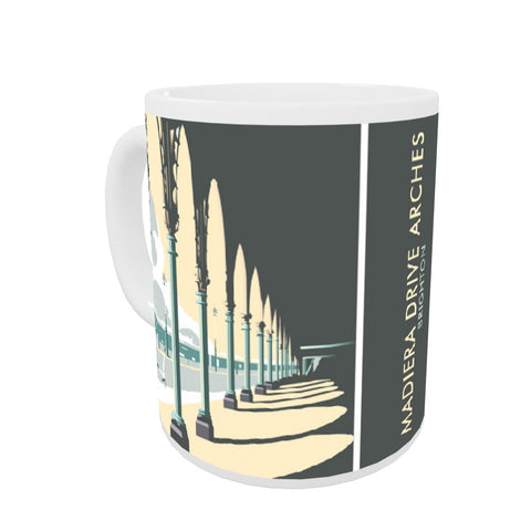 Madiera Drive Arches, Brighton Coloured Insert Mug