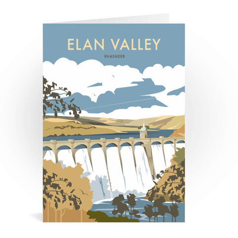 Elan Valley, Rhayader Greeting Card 7x5