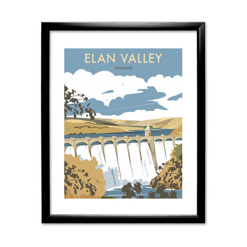 Elan Valley, Rhayader 11x14 Framed Print (Black)