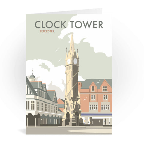 Clock Tower, Leicester Greeting Card 7x5