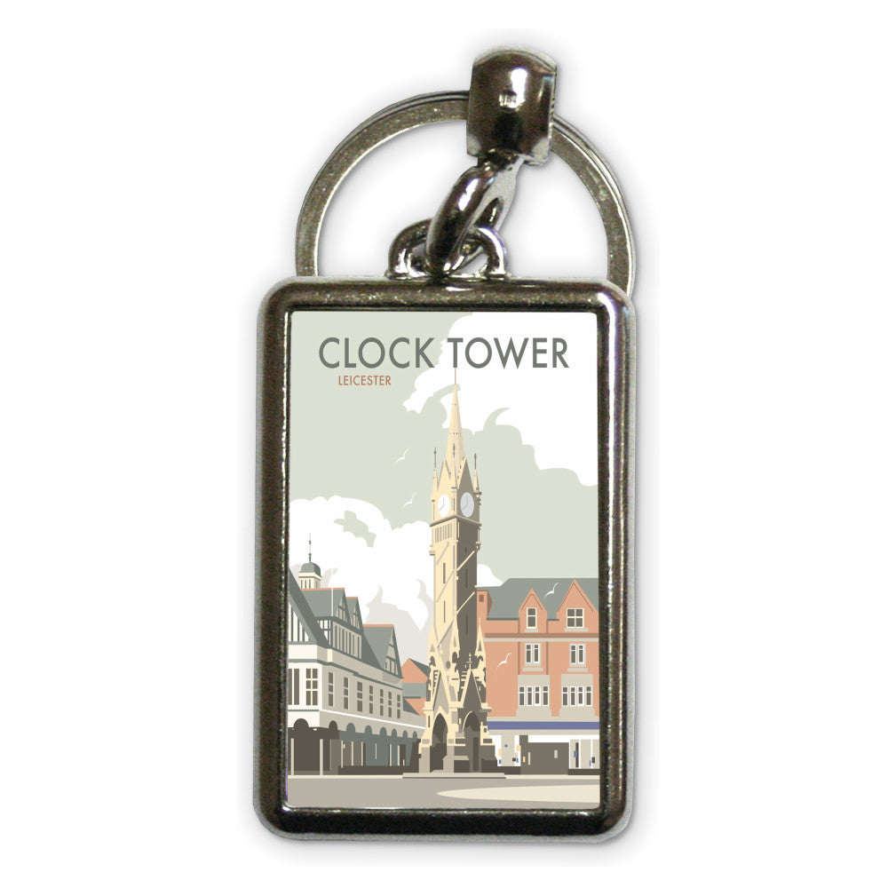 Clock Tower, Leicester Metal Keyring
