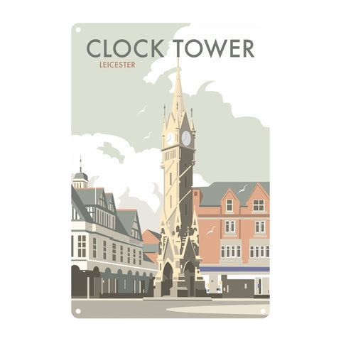Clock Tower, Leicester Metal Sign