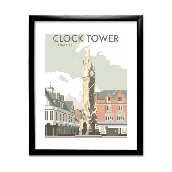 Clock Tower, Leicester 11x14 Framed Print (Black)
