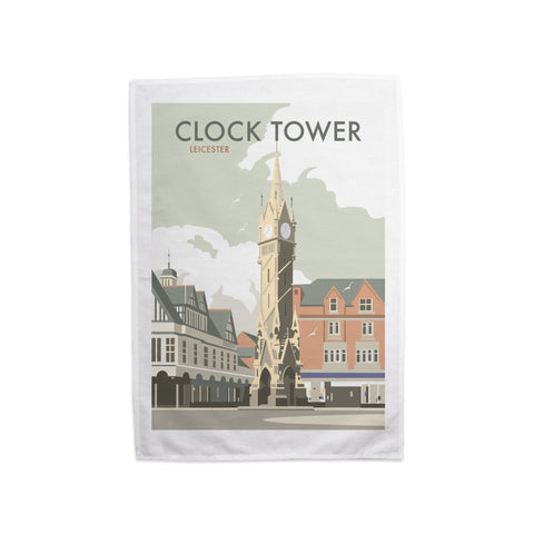 Clock Tower, Leicester Tea Towel
