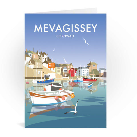 Mevagissey, Cornwall Greeting Card 7x5
