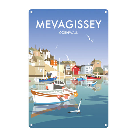 Mevagissey, Cornwall Metal Sign