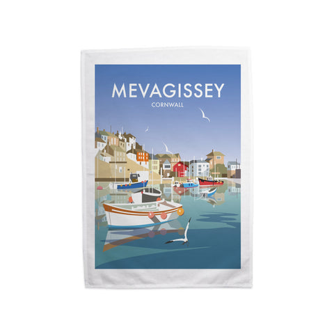 Mevagissey, Cornwall Tea Towel