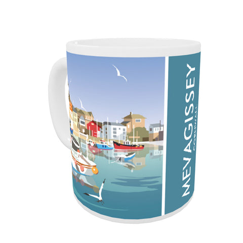 Mevagissey, Cornwall Coloured Insert Mug