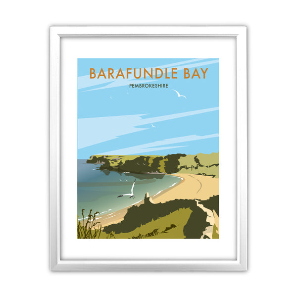 Barafundle Bay, Pembrokeshire 11x14 Framed Print (White)