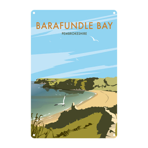 Barafundle Bay, Pembrokeshire Metal Sign
