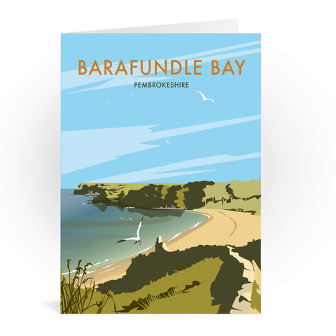 Barafundle Bay, Pembrokeshire Greeting Card 7x5