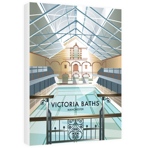 Victoria Baths, Manchester 40cm x 60cm Canvas