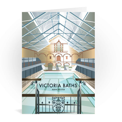 Victoria Baths, Manchester Greeting Card 7x5